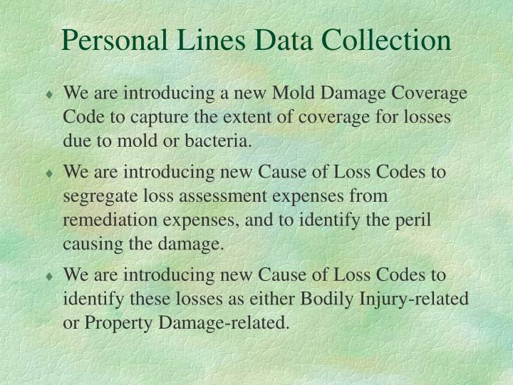 Personal Lines Data Collection