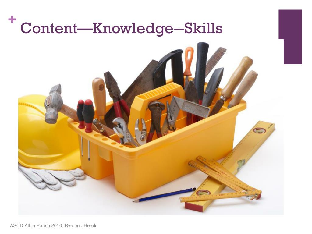 Content—Knowledge--Skills