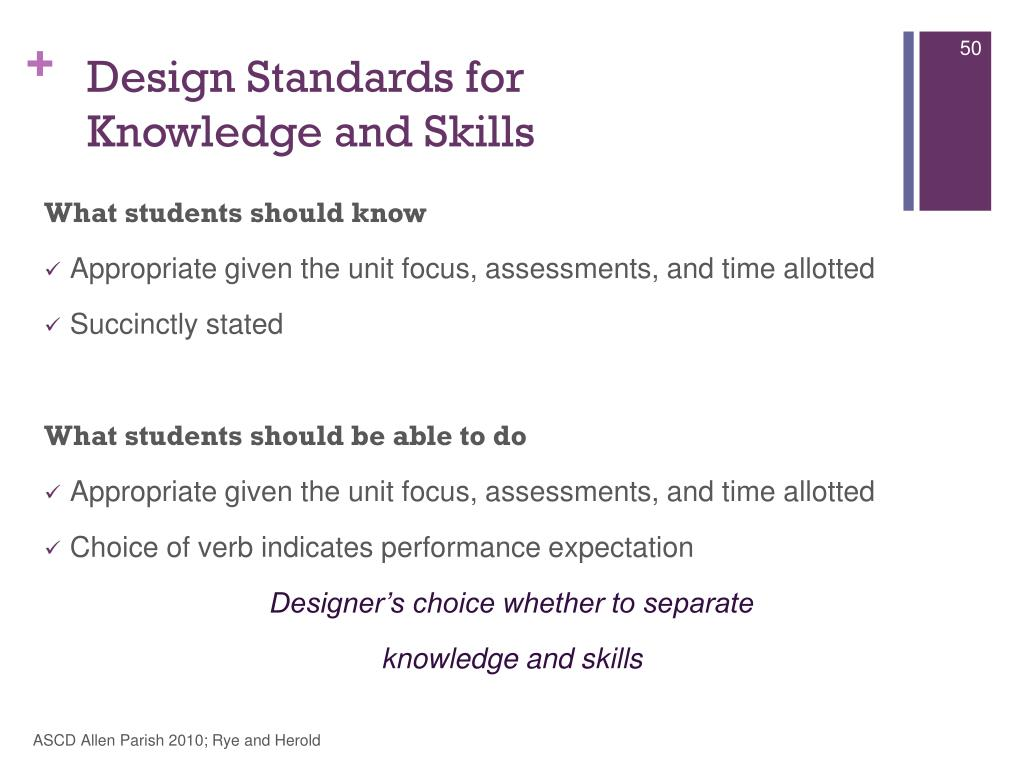 Design Standards for