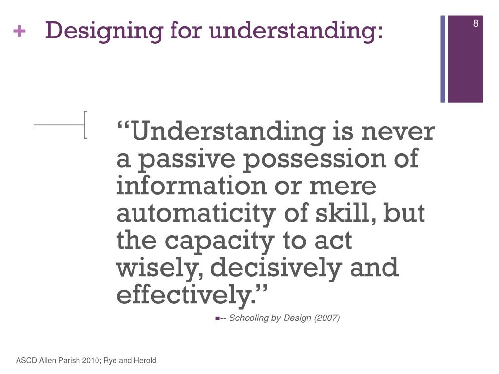 Designing for understanding: