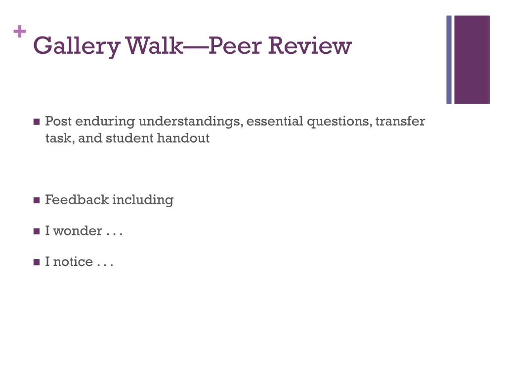 Gallery Walk—Peer Review