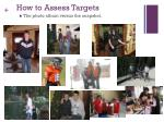 how to assess targets61