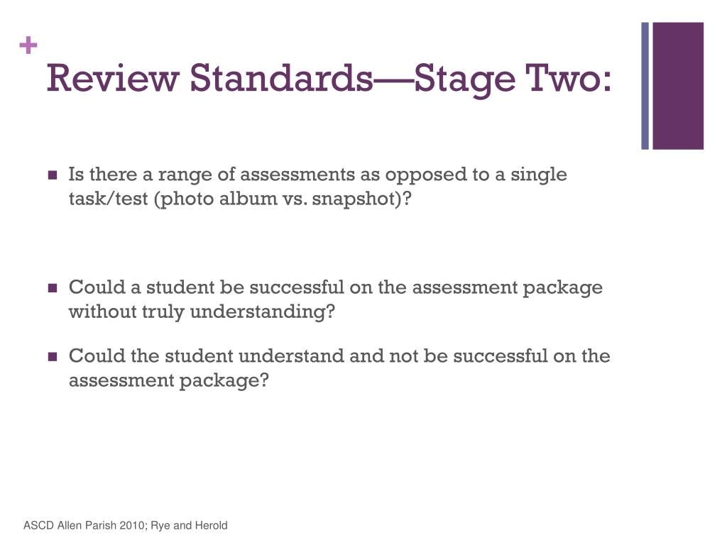 Review Standards—Stage Two: