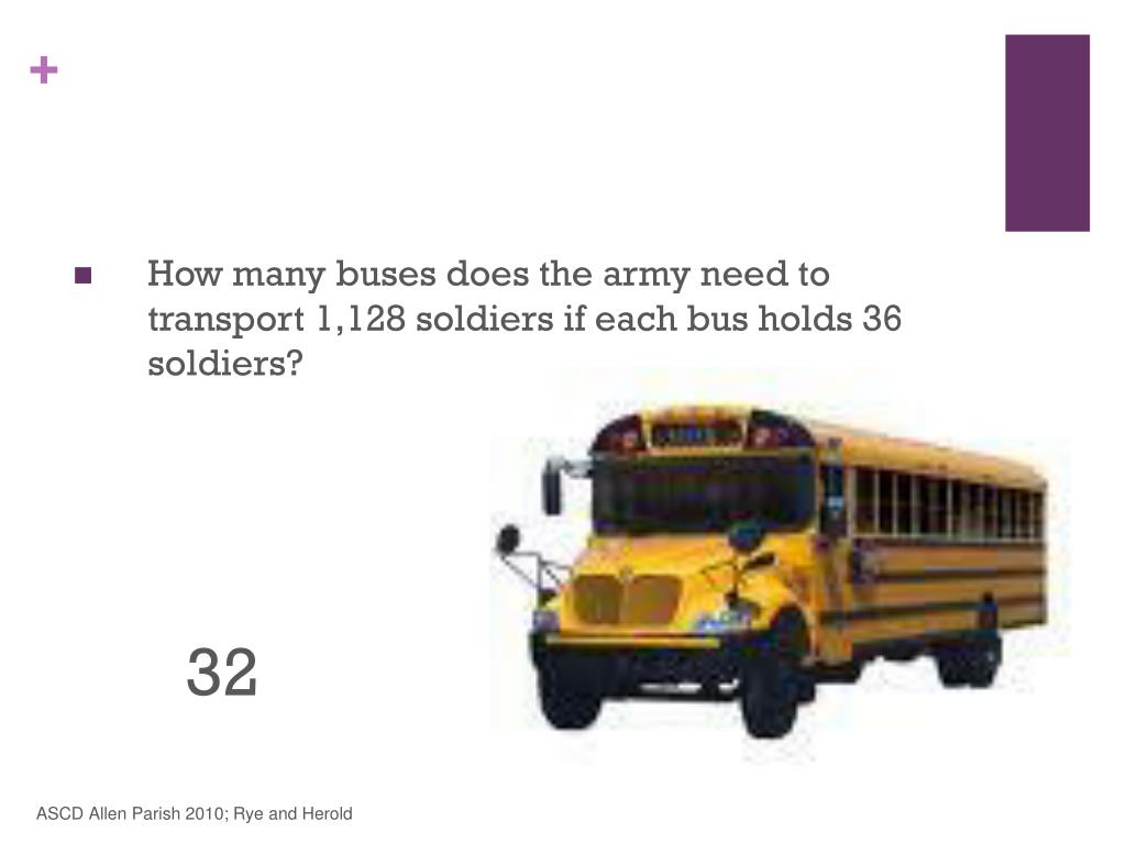 How many buses does the army need to transport 1,128 soldiers if each bus holds 36 soldiers?