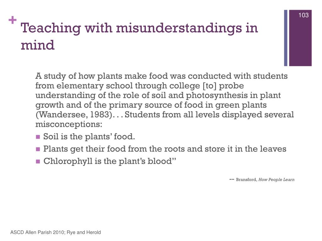 Teaching with misunderstandings in mind