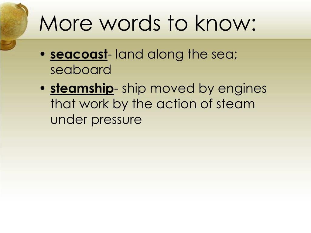 More words to know: