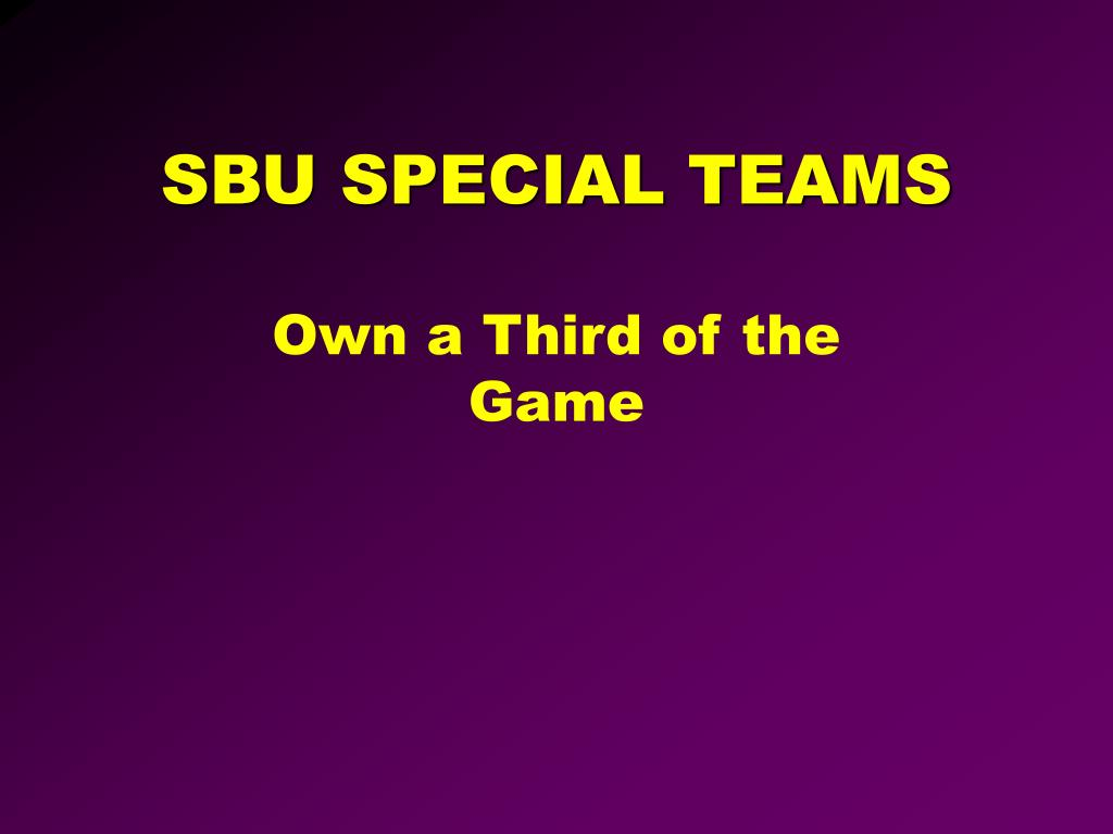 sbu special teams l.