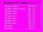broadcast tv ratings feb 18 23 02