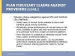 plan fiduciary claims against providers cont27