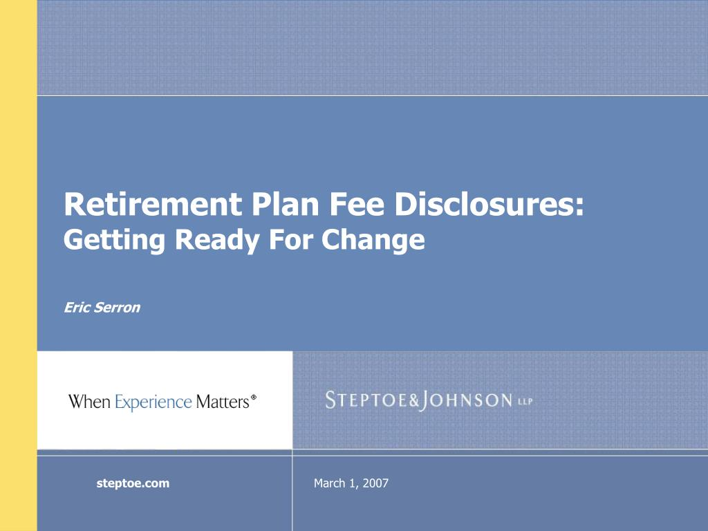retirement plan fee disclosures getting ready for change