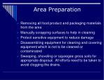 area preparation