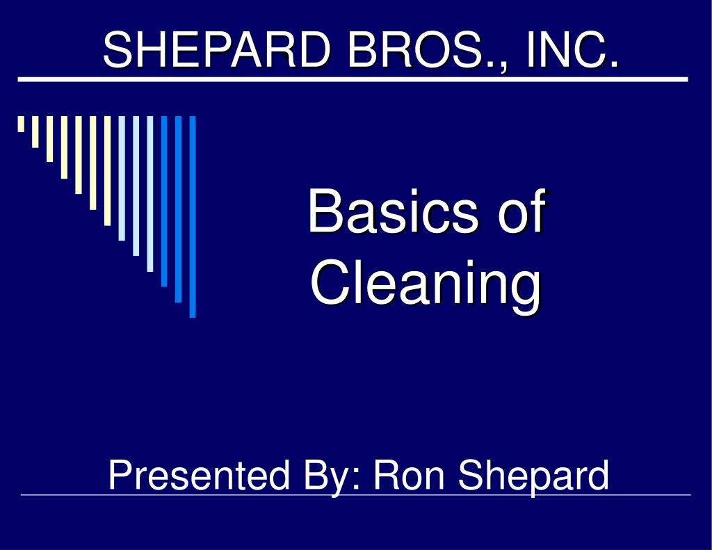 basics of cleaning l.