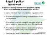 legal policy framework