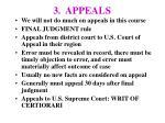 3 appeals