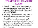 wrap up of class of 8 28 00
