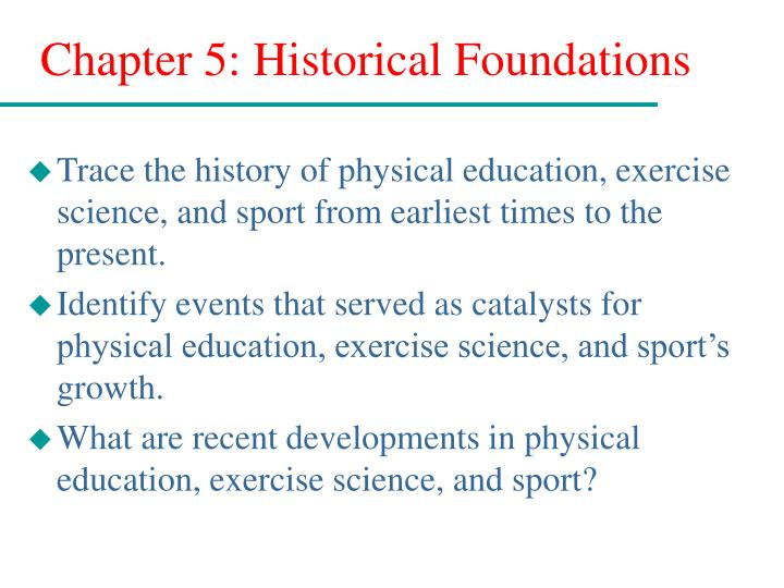 chapter 5 historical foundations n.