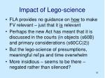 impact of lego science