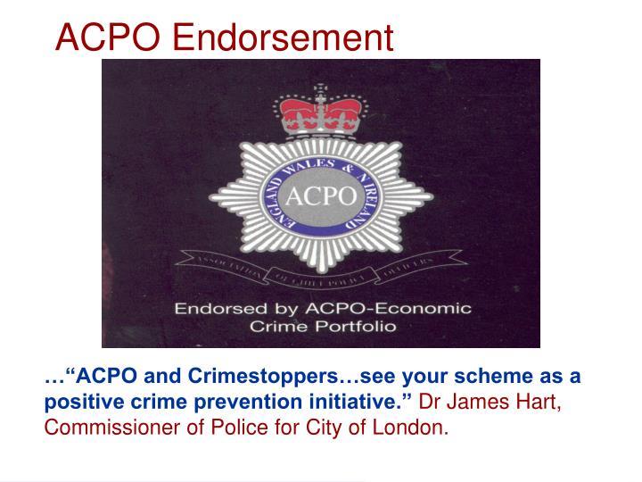 Acpo endorsement