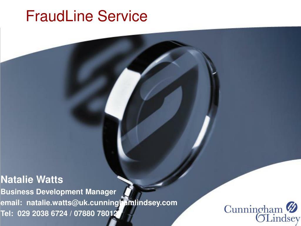 FraudLine Service
