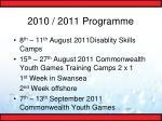 2010 2011 programme19