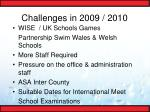 challenges in 2009 2010