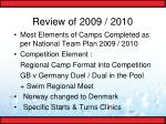 review of 2009 20104