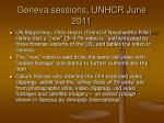 geneva sessions unhcr june 2011