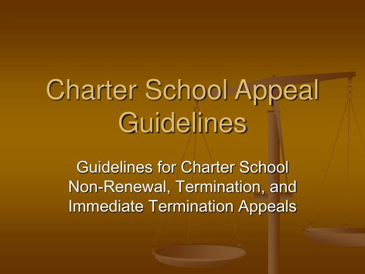 Charter school appeal guidelines