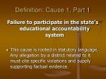 definition cause 1 part 1