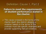 definition cause 1 part 2