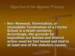 objective of the appeals process