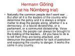 hermann g ring at his n rnberg trial