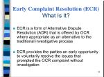 early complaint resolution ecr what is it