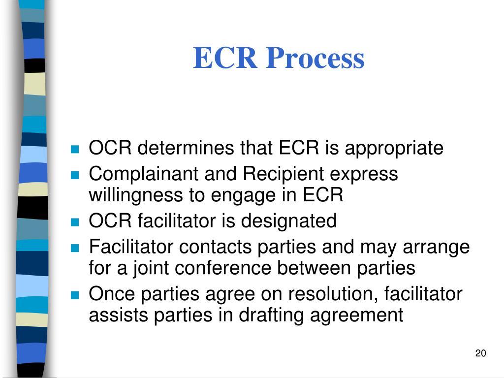 ECR Process