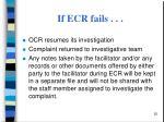 if ecr fails