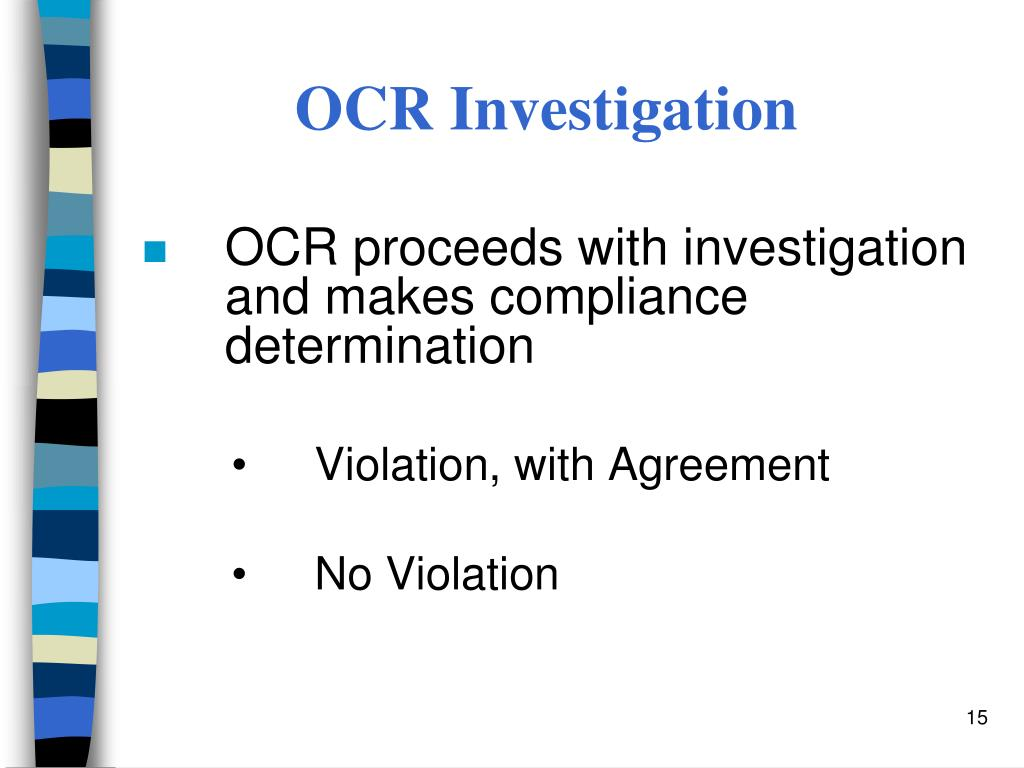 OCR Investigation