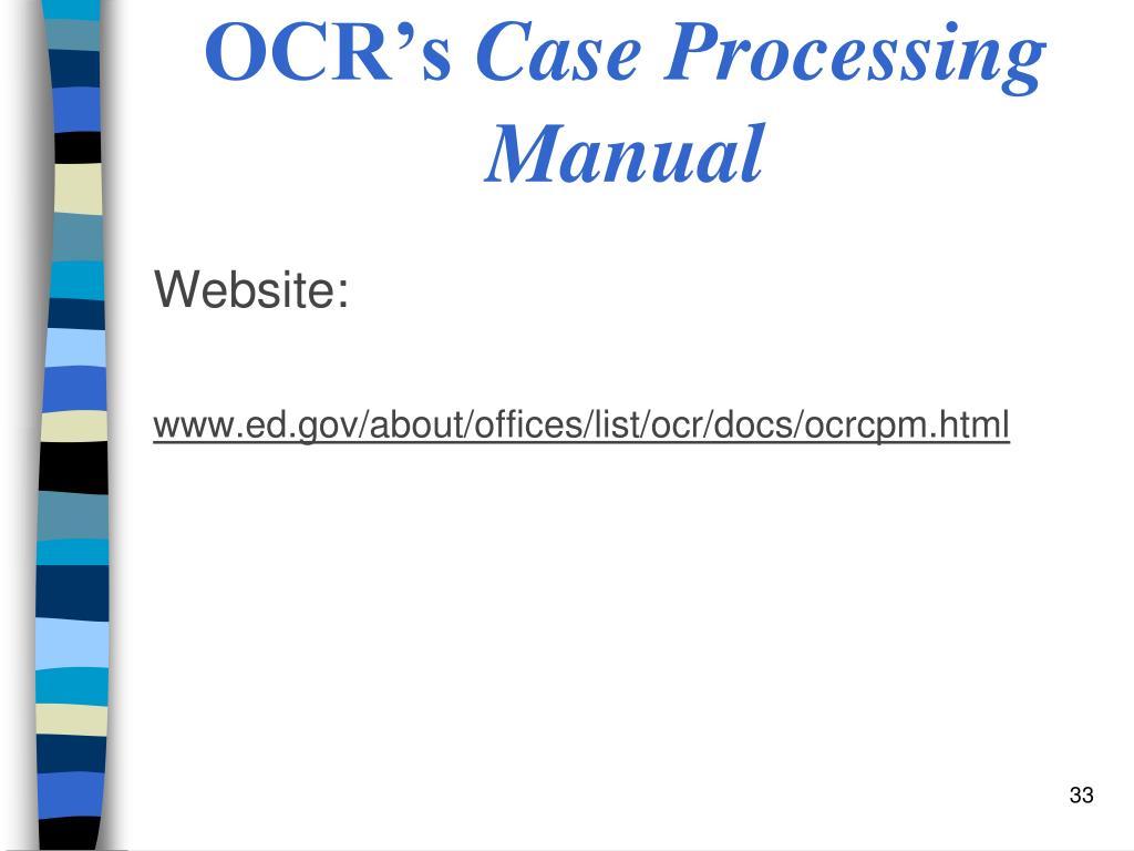 OCR's