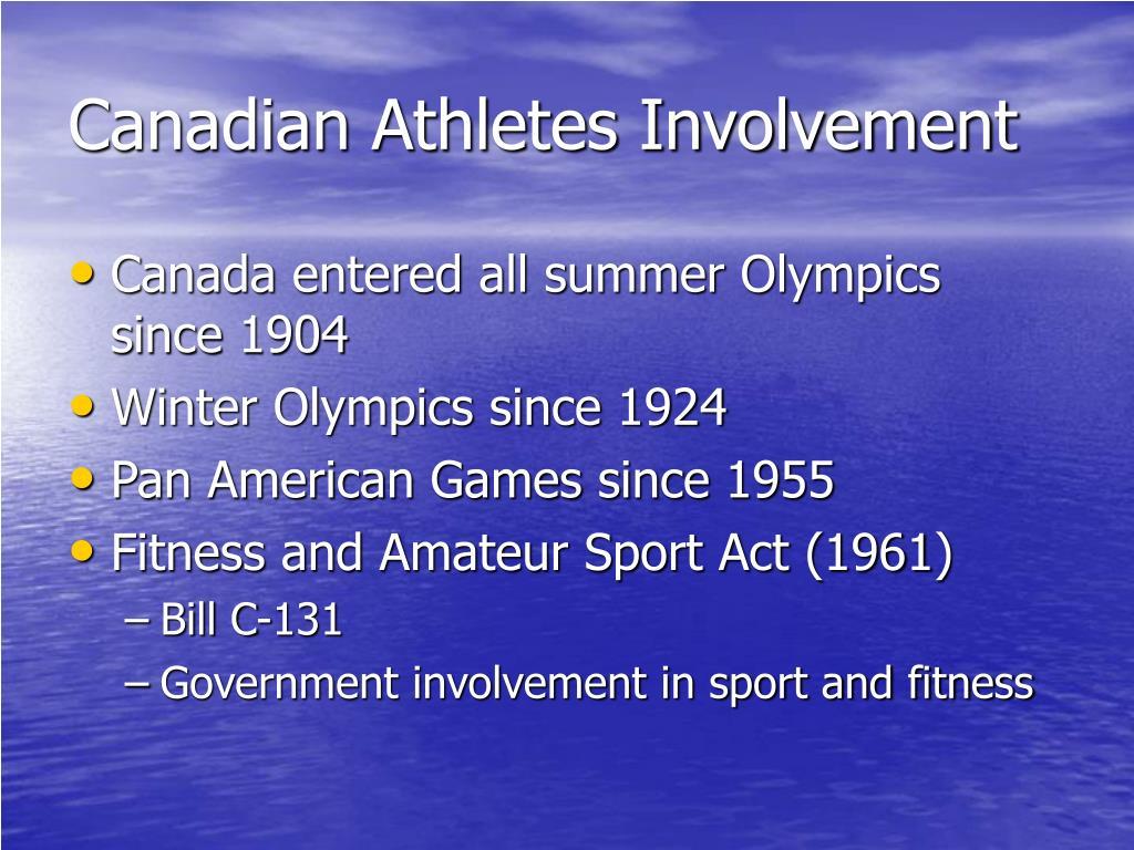 Canadian Athletes Involvement