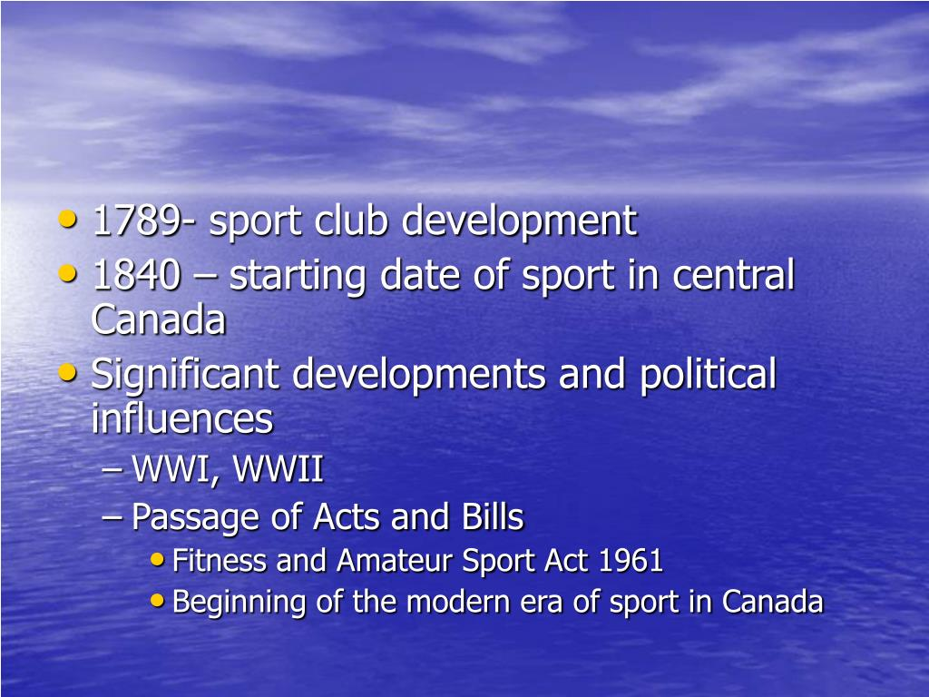 1789- sport club development