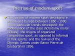 the rise of modern sport4