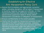 establishing an effective anti harassment policy cont1