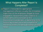 what happens after report is completed