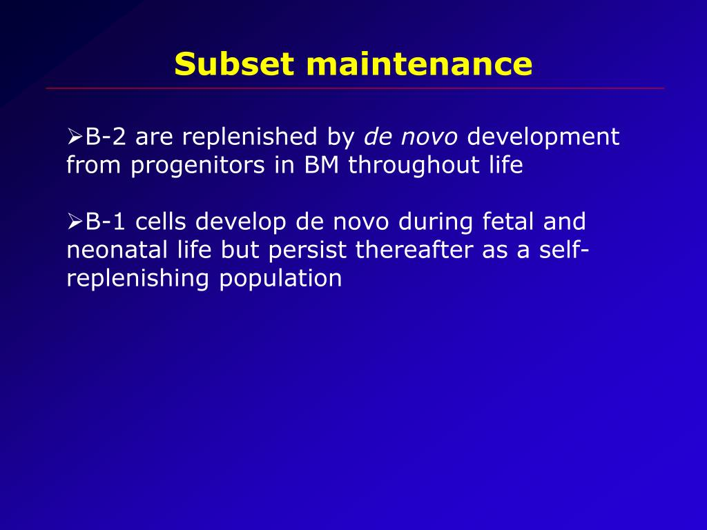 Subset maintenance