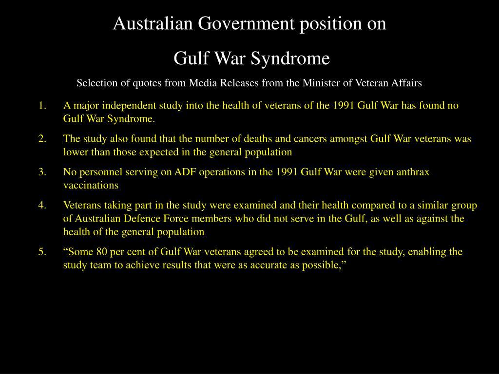 Australian Government position