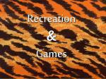 recreation games