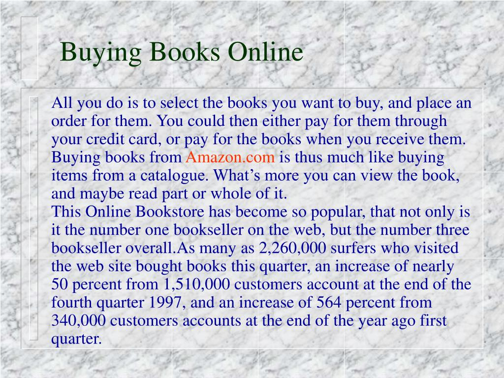 Buying Books Online