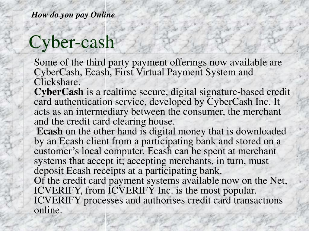 How do you pay Online