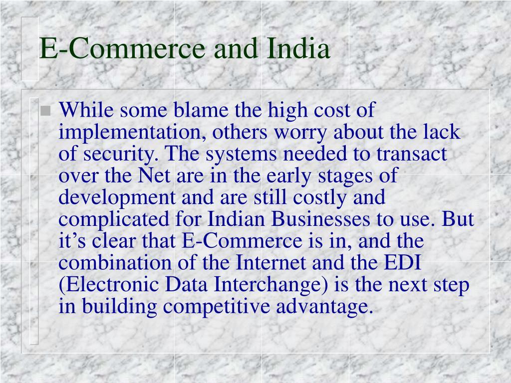 E-Commerce and India