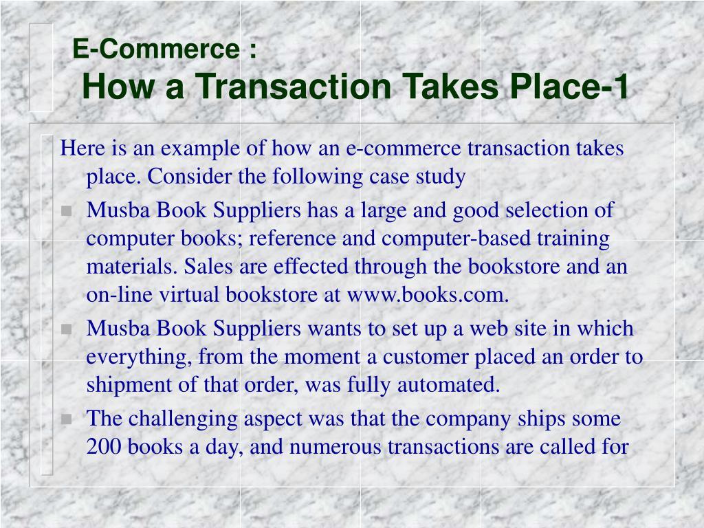 E-Commerce :