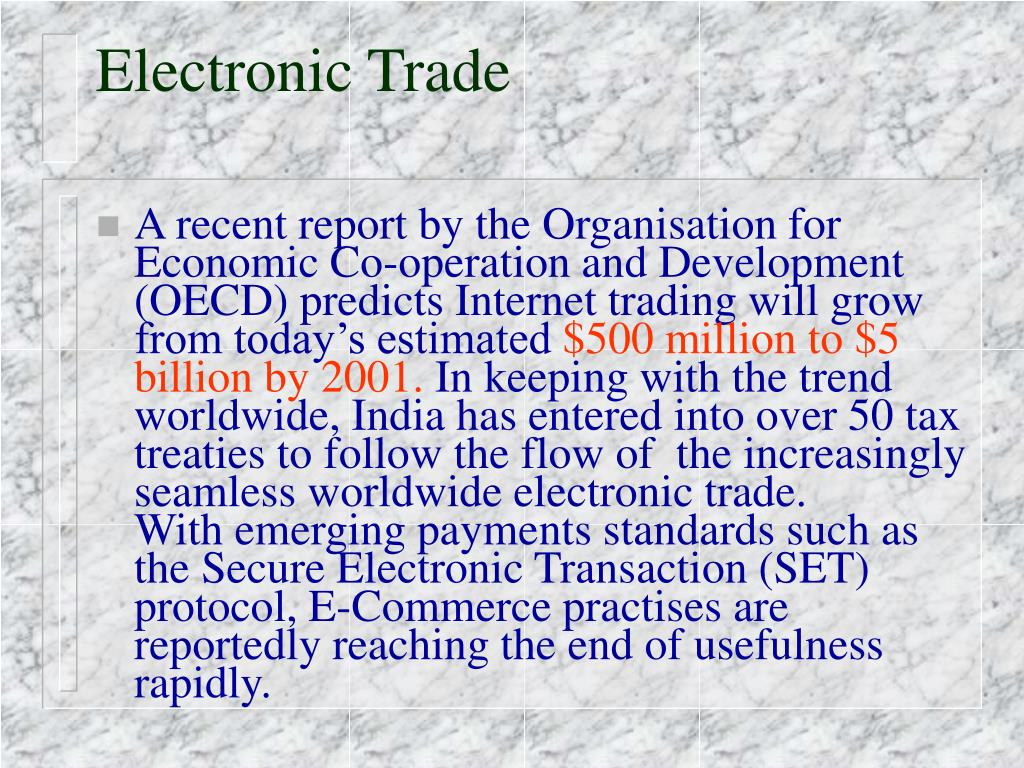 Electronic Trade